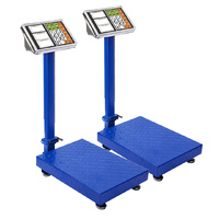 SOGA 2X  300kg Electronic Digital Platform Scale Computing Shop Postal Weight Blue