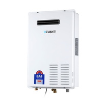 Devanti LPG Gas Water Heater 26L Home Instant Hot Outdoor Household White