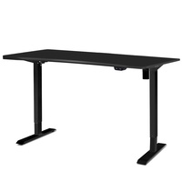 Artiss Roskos I Electric Motorised Height Adjustable Standing Desk Sit Stand Table Curved 140cm Black