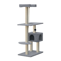 i.Pet 145cm Cat Scratching Post - Grey