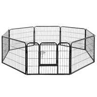 i.Pet 8 Panel Pet Dog Playpen Puppy Exercise Cage Enclosure Fence Play Pen 80x60cm