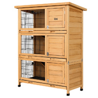 i.Pet Rabbit Hutch Hutches Large Metal Run Wooden Cage Waterproof Outdoor Pet House Chicken Coop  91.5cm x 46cm x 116.5cm