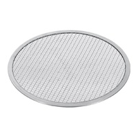 SOGA 14-inch Round Seamless Aluminium Nonstick Commercial Grade Pizza Screen Baking Pan