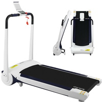 OVICX Electric Treadmill Q1 Home Gym Exercise Machine Fitness Equipment Compact White