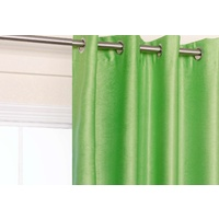 Apple Lime Green Blockout Eyelet Curtain 140x221cm
