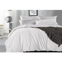 Queen Size White Vintage Washed Cotton Quilt Cover Set(3PCS)