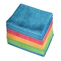 18x Microfibre Cleaning Cloth Microfiber Dish Car Gym Towel Glass 210GSM 40x30cm
