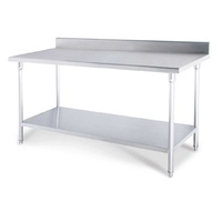 SOGA 100*70*85cm Commercial Catering Kitchen Stainless Steel Prep Work Bench