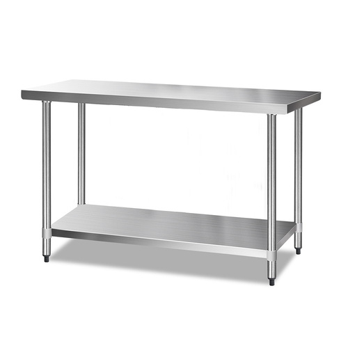 Cefito 1524 x 610mm Commercial Stainless Steel Kitchen Bench