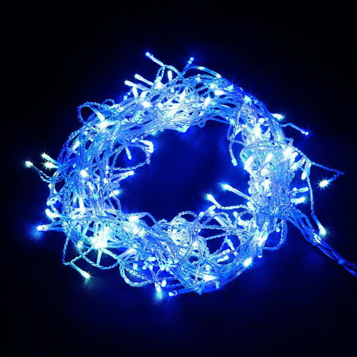 Jingle Jollys 800 LED Christmas Icicle Lights White and Blue